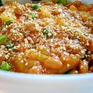 栄養満点キムチ納豆