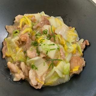 白菜と豚こま肉のとろとろ煮♪