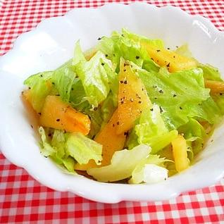簡単ジューシー!レタスと柿のサラダ