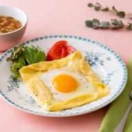 卵とろ~り♪「高崎のめぐみ」米粉もちもちガレット