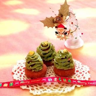 抹茶スイートポテトで♡食べられるツリー♡クリスマス