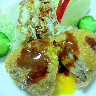 中農ソースと卵のトロリ感が絶品 スコッチエッグ