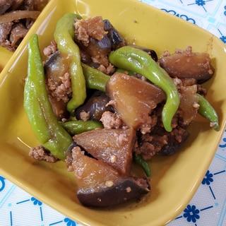 茄子のひき肉味噌炒め☆