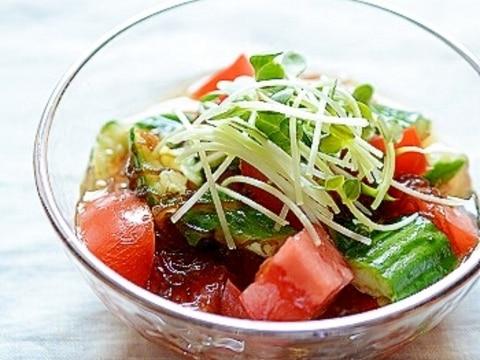 楽天マート☆もずく酢の簡単サラダ