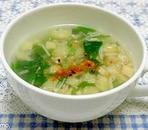 春の香り♪根みつばとえのきのとろみスープ