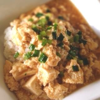 お腹いっぱい!焼肉のタレでピリ辛豆腐丼