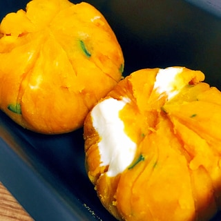 デザート系おかず◎かぼちゃのチーズ茶巾