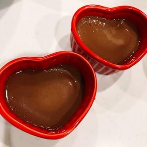 フライパンでほったらかし~簡単濃厚チョコプリン♪