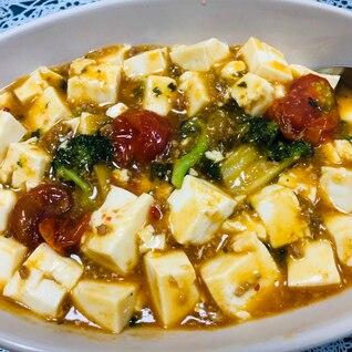 トマトとブロッコリーの麻婆豆腐