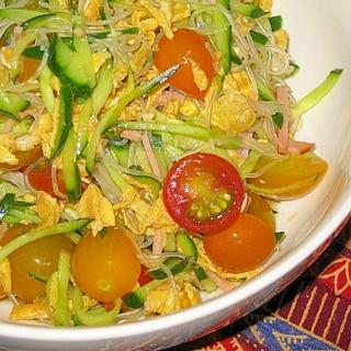 冷やし中華のタレで!春雨サラダ