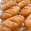 HB使用。はちみつ生姜のフランスパン(くるみ入り)