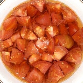 夏にさっぱり!トマトの三杯酢漬け