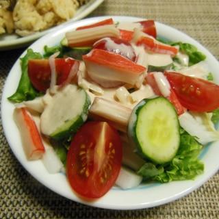 ズッキーニと豆腐とトマトのツナサラダ♪