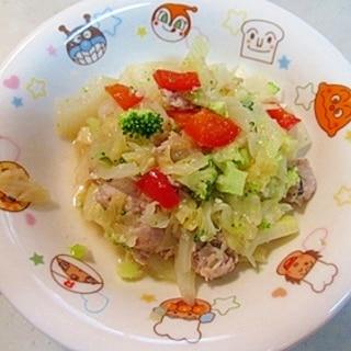 簡単で野菜が甘い♪キャベツと玉ねぎの蒸し煮