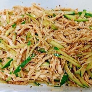 作り置き☆冷たい料理☆きゅうりと蒸し鶏の中華風