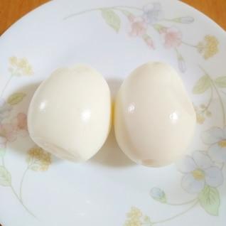 殻がつるんとむけるゆで卵♪