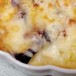 茄子とじゃがいものケチャップチーズ焼き