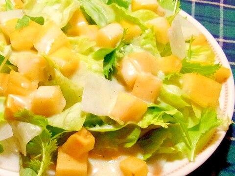 柿と大根のサラダ