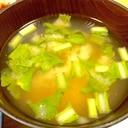 かぶらの葉と豆腐のお味噌汁☆食べるお味噌汁