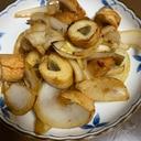 ごぼう天と玉ねぎの生姜焼き