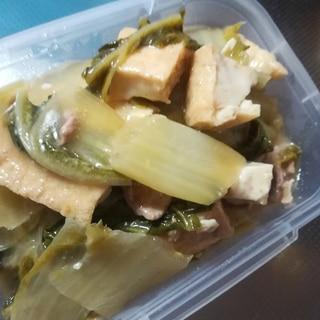 白菜と豚肉と厚揚げのオイスターソース炒め