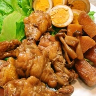 鶏手羽元と煮たまごの簡単・旨々煮♪