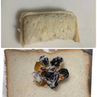 ランチパック風♪干し柿とレーズンのサンドイッチ