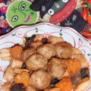 肉団子と筍のXO醤炒め