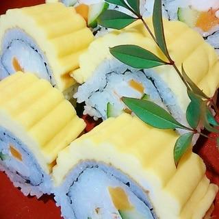 節分に『伊達巻飾り寿司』