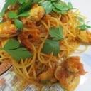 冷凍物で簡単に ムール貝のトマトソーススパゲティー