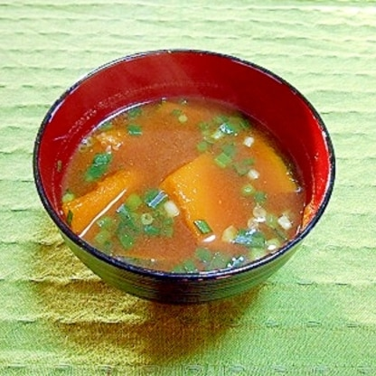かぼちゃのお味噌汁