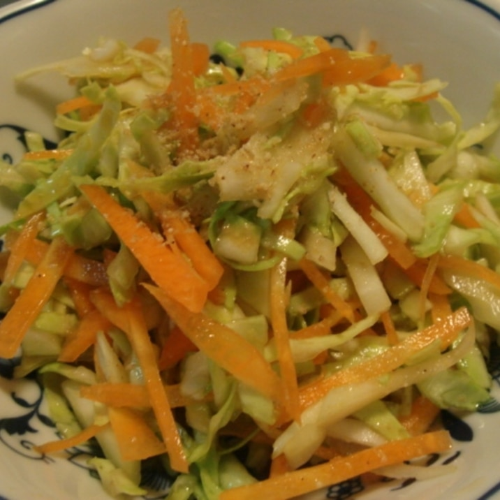 キャベツと人参の中華風サラダ