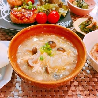 糖質制限☆キャベツとシメジと卵の和風生姜スープ