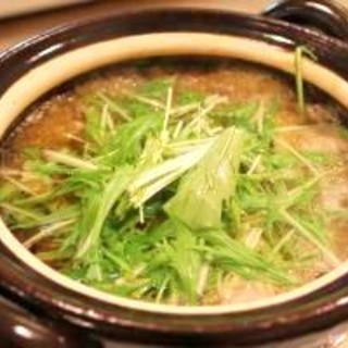【一人用土鍋で】かんぱちのみぞれ鍋