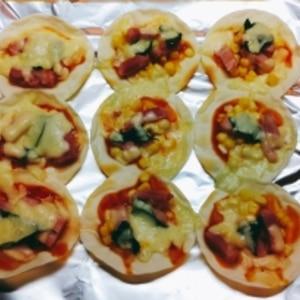 子どもも大好き!ベーコンの簡単ミニピザ