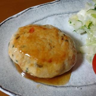 野菜をプラス!鶏豆腐ハンバーグ