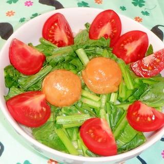 レンジで簡単♪小松菜とベーコンの温サラダ