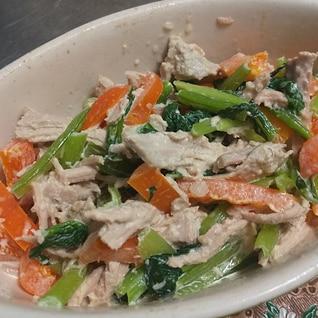 ツナみたい★ヒレ肉の塩豚と野菜のマヨネーズ和え