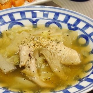 圧力鍋でとろとろ生姜でポカポカ★手羽先の中華スープ