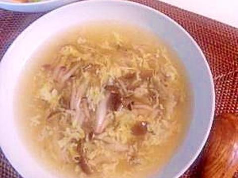 しめじと卵の中華スープ