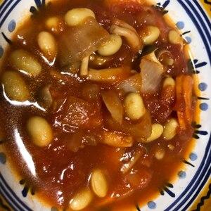 寒い日には!根菜と大豆のミネストローネ☆