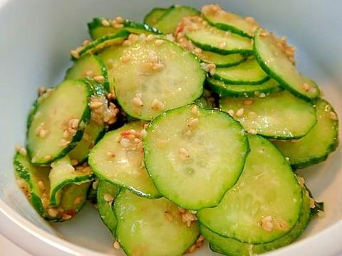 ピリ辛 ❤胡瓜のかんずり塩麹あえ❤