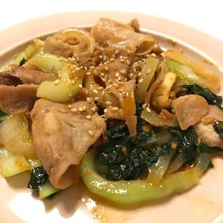 豚バラ肉とチンゲン菜の麻婆炒め