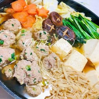♡スープは買わないで♪簡単肉団子醤油ちゃんこ鍋♡
