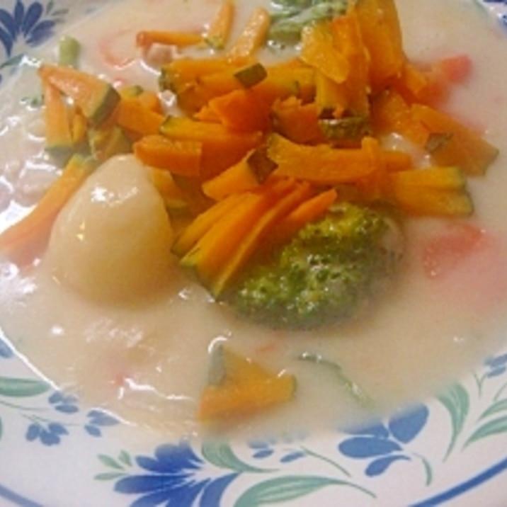 緑黄色野菜たっぷりクリームシチュー