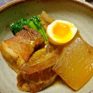 ■焼酎で豚バラ肉の角煮