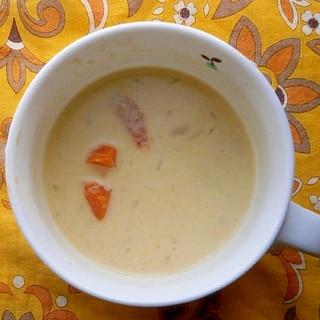人参・玉ねぎの豆乳スープ
