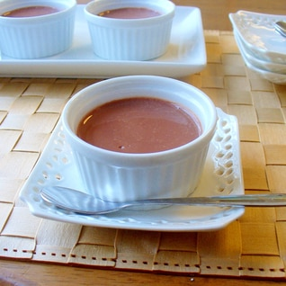 超簡単♪調整ココアでチョコレートプリン