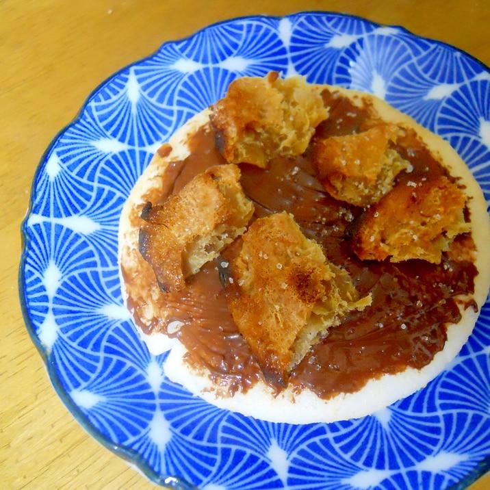 おやつに☆干し芋&チョコ煎餅