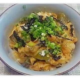 残った天ぷらで天丼!